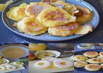 Beignets de pommes à la poêle et sans friture