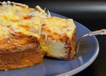 Gâteau invisible pommes de terre et patates douces