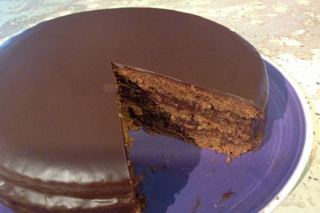 Génoise au chocolat (cacao)