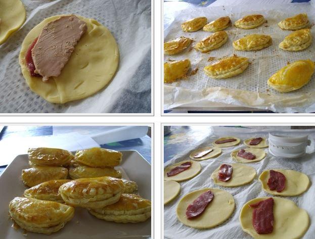 mini chausson au foie gras et magret