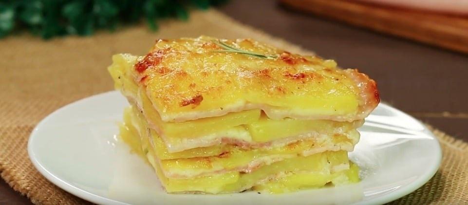 Gratin fondant de pommes de terre jambon & fromage