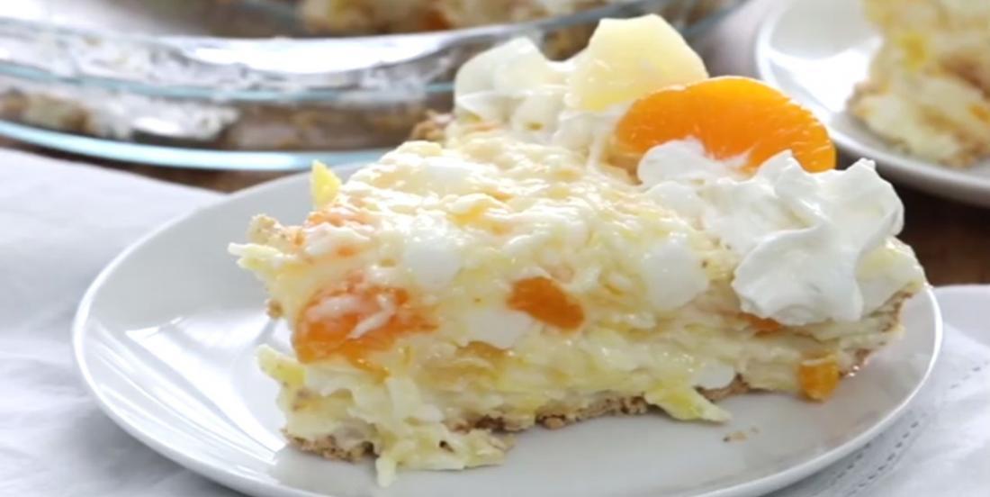 Mandarine et ananas une tarte sans cuisson qui a vite enflammé le web!