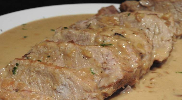Rôti de porc sauce au camembert facile