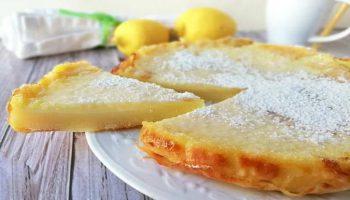 Gâteau crémeux au citron sans farine ni beurre