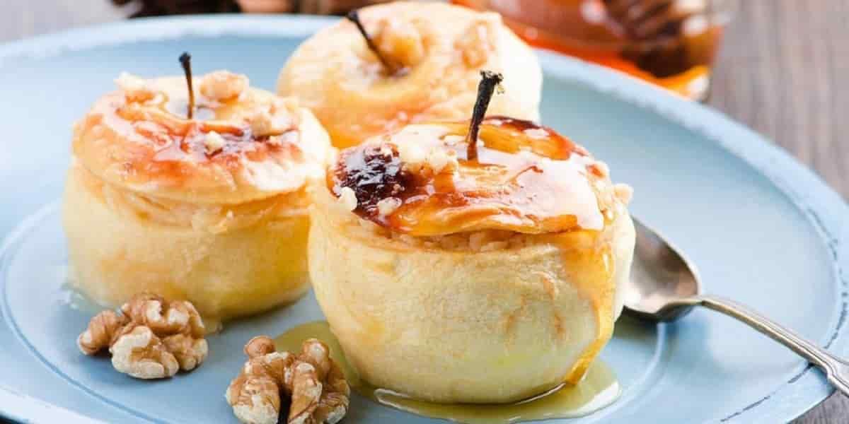 Pomme au four sésame-miel
