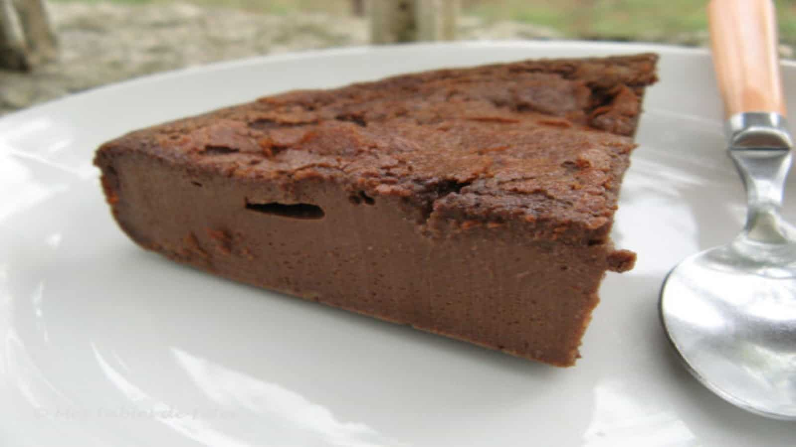 Gâteau flan au chocolat