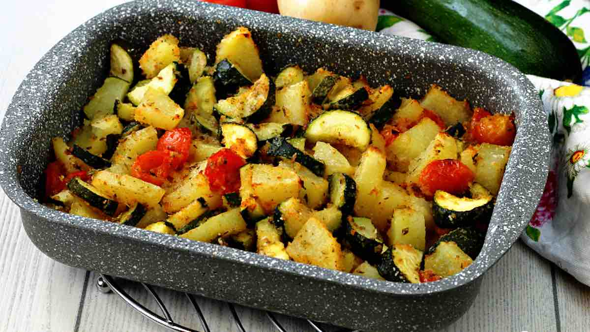 Pommes de terre et courgettes