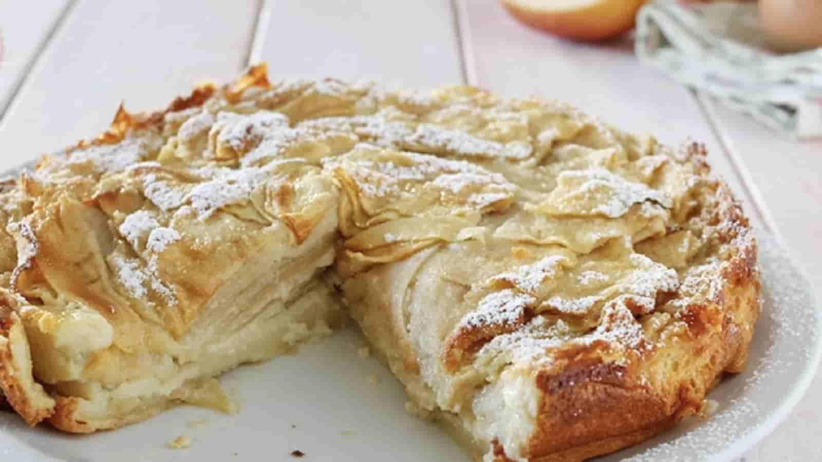 Gâteau au lait et aux pommes