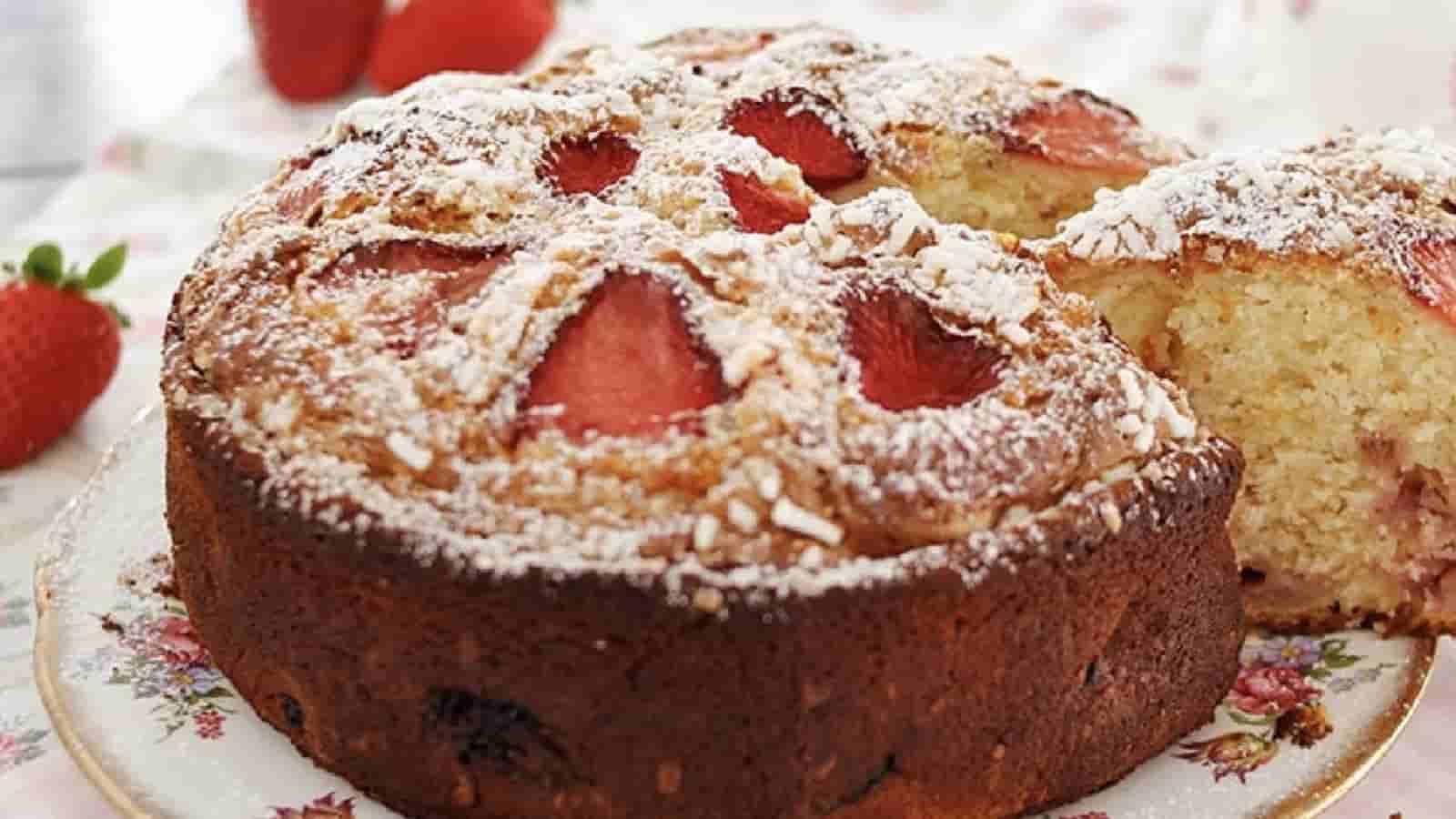 Gâteau aux fraises et à la ricotta