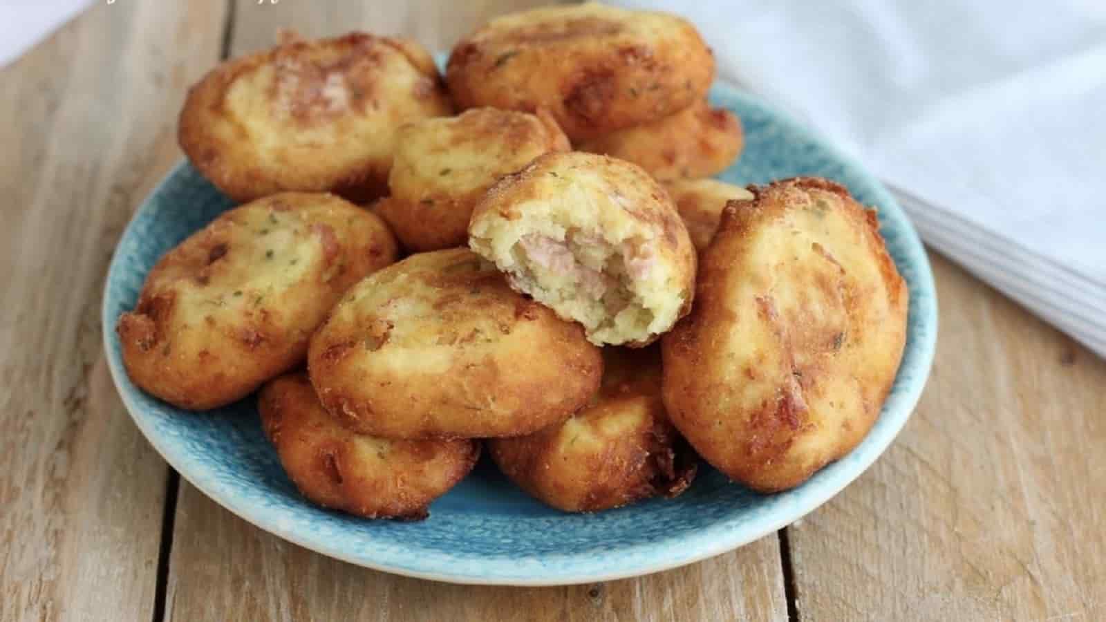 Galettes de pommes de terre et jambon