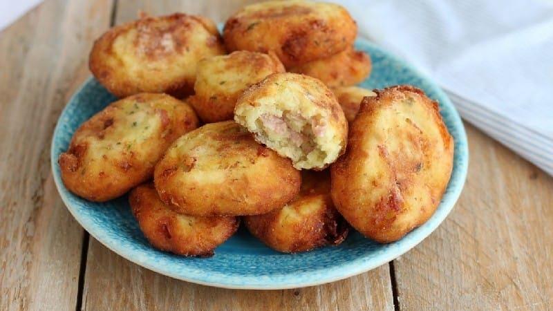 Boulettes de viande aux pommes de terre et jambon cuit