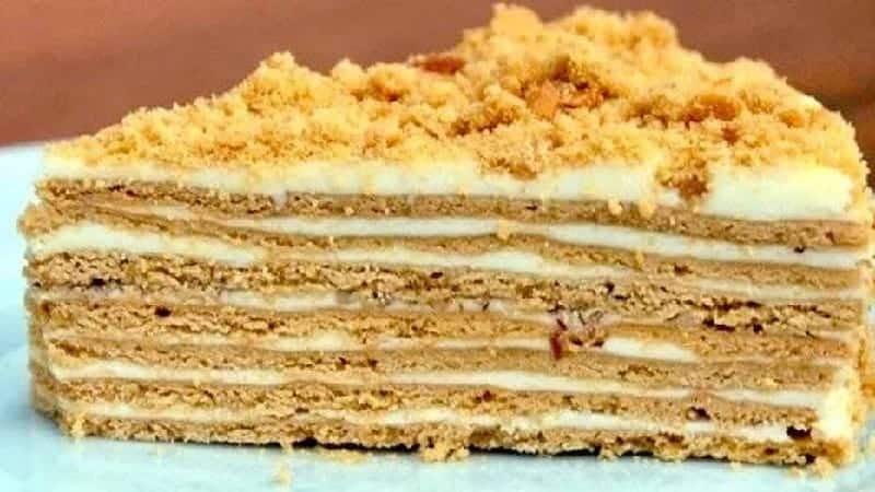 Le gâteau au biscuit sans beurre
