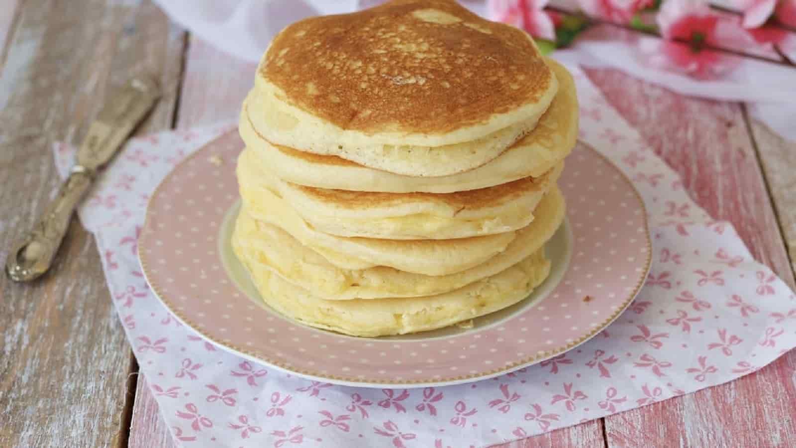 Pancakes faciles sans beurre et sans gluten