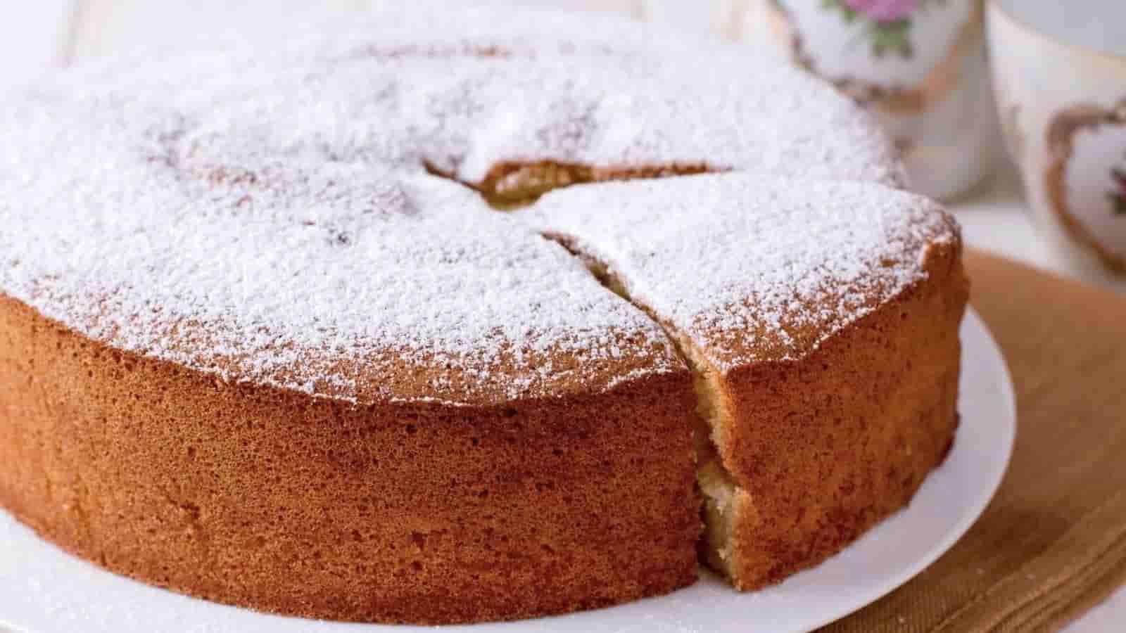 le gâteau à l'eau sans oeufs en 1 minute