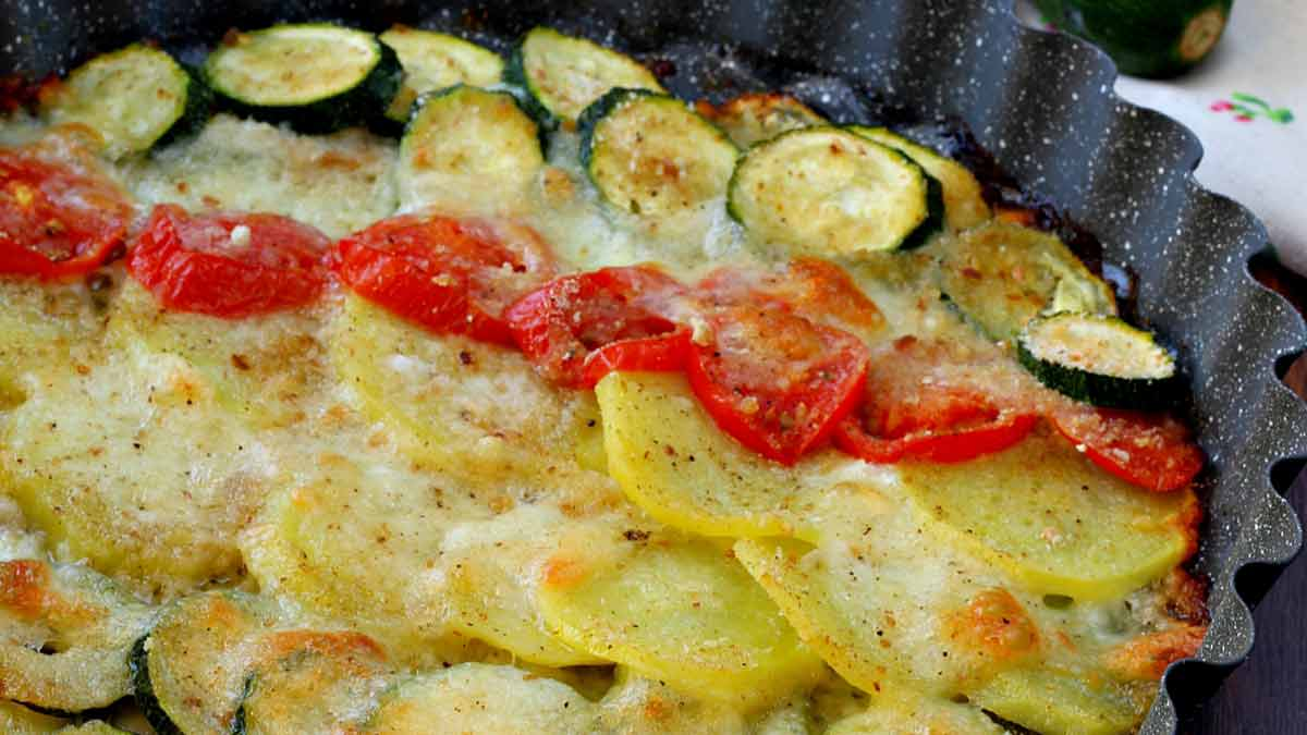 Légumes cuits au four à la mozzarella