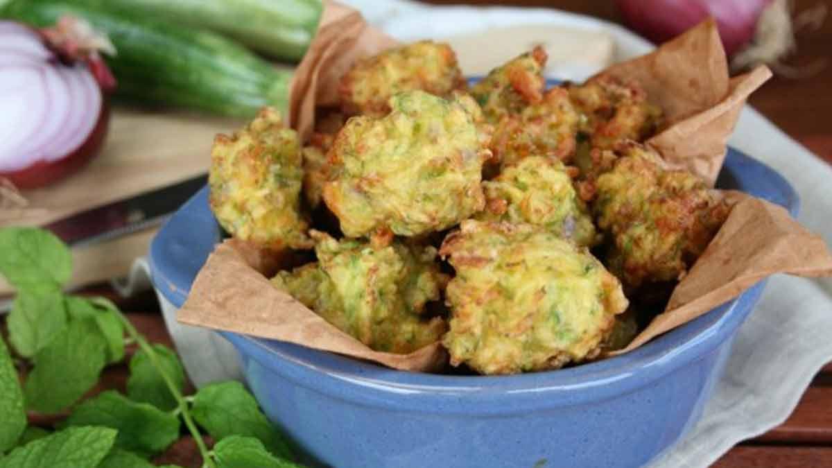 Beignets de courgettes à la menthe - Tasties Foods