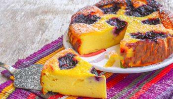 Gâteau à la ricotta et à la confiture