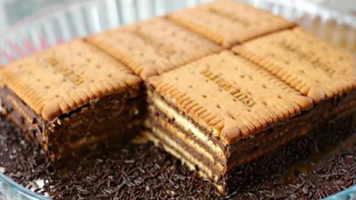 Gâteau aux biscuits et au chocolat sans cuisson
