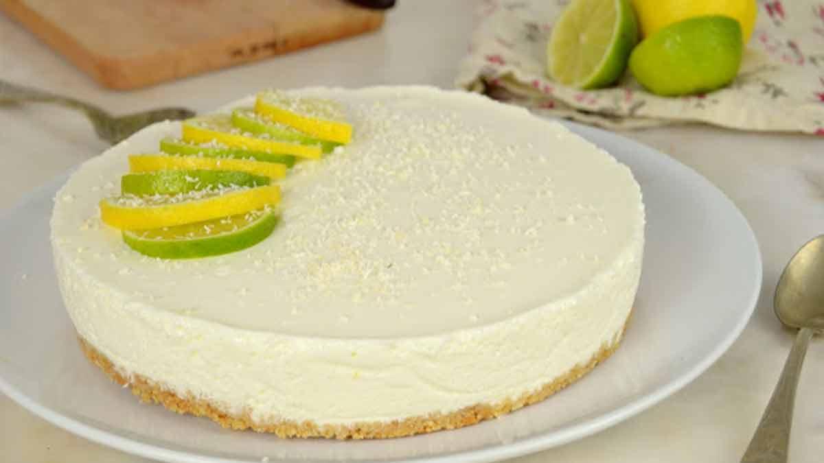 Gâteau froid au citron et au yaourt