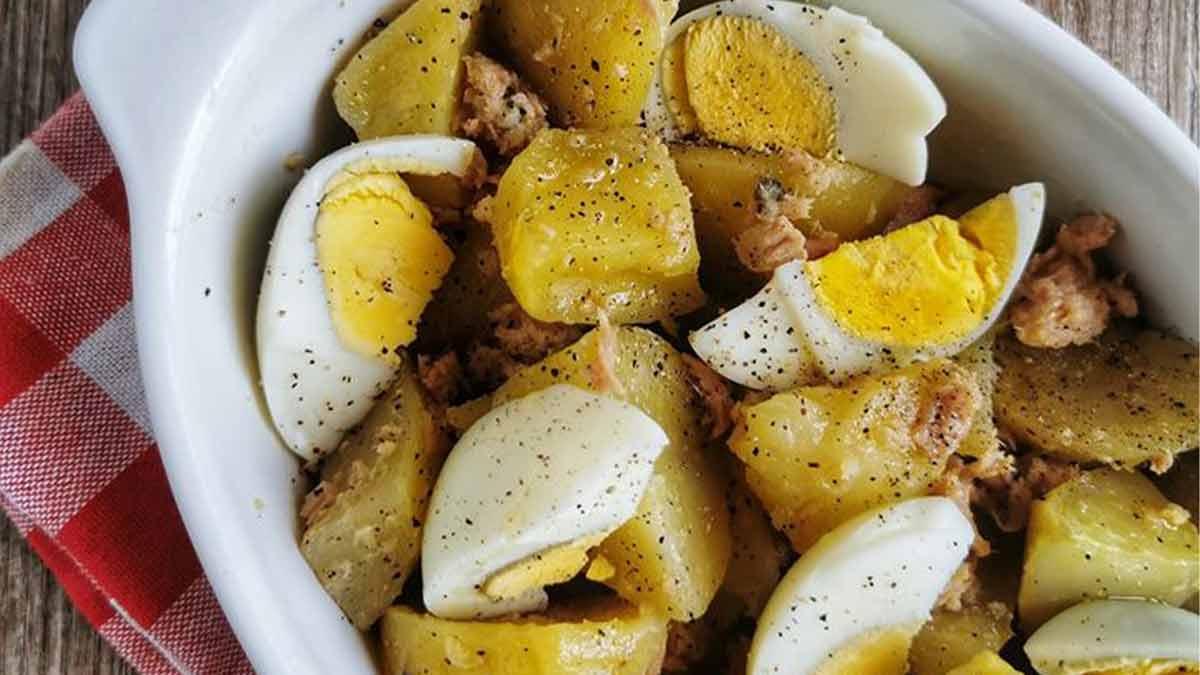 Onctueuses pommes de terre au thon et aux œufs