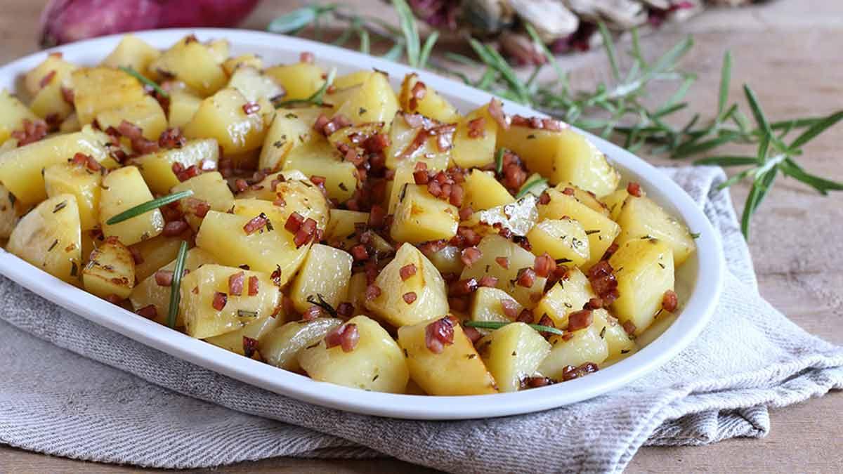 Pommes de terre rôties au jambon facile à faire