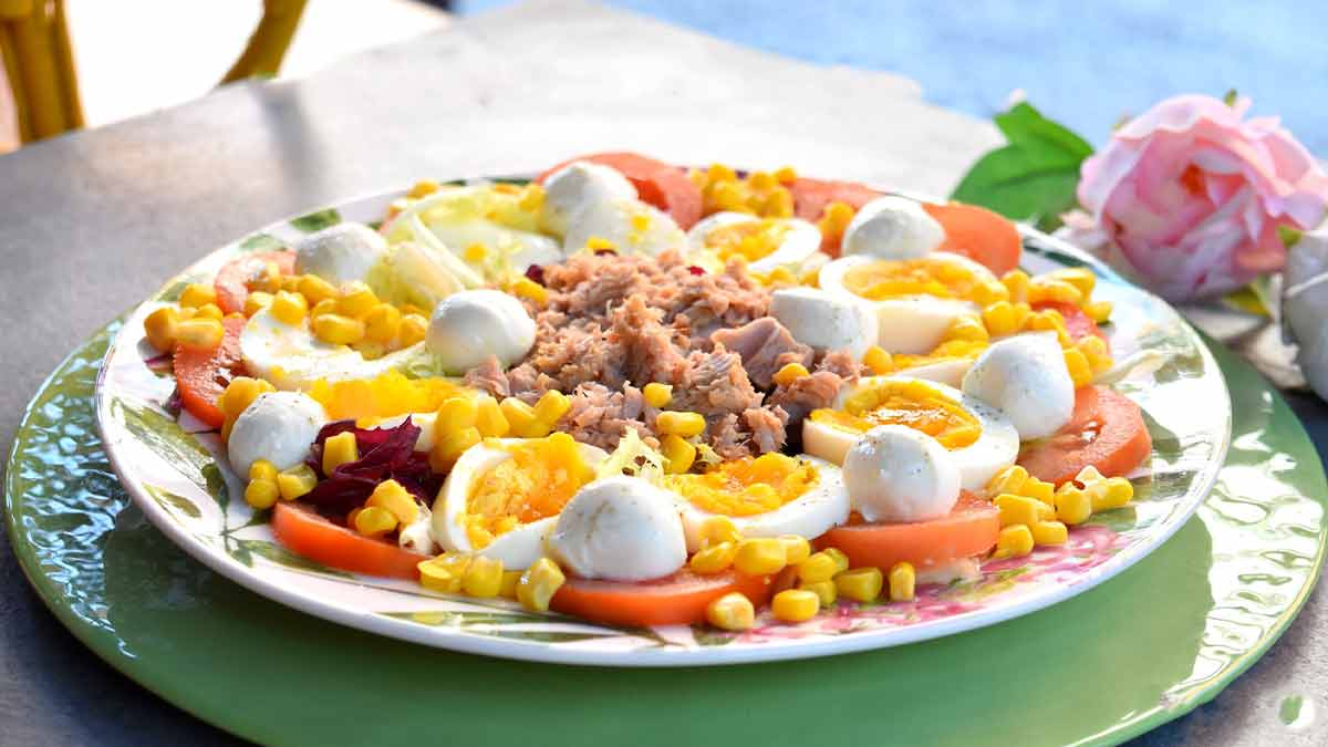 Salade de maïs aux œufs durs