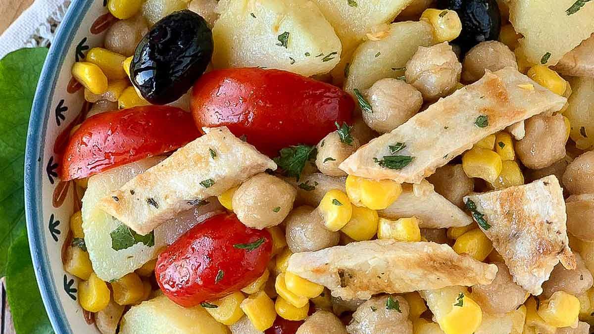 Salade de poulet rôti et pommes de terre
