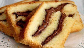 Savoureux cake au yaourt à la pâte à tartiner
