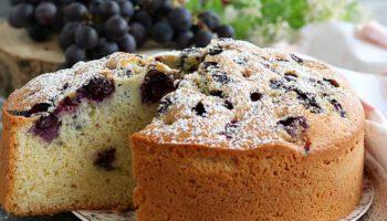 Savoureux gâteau aux raisins