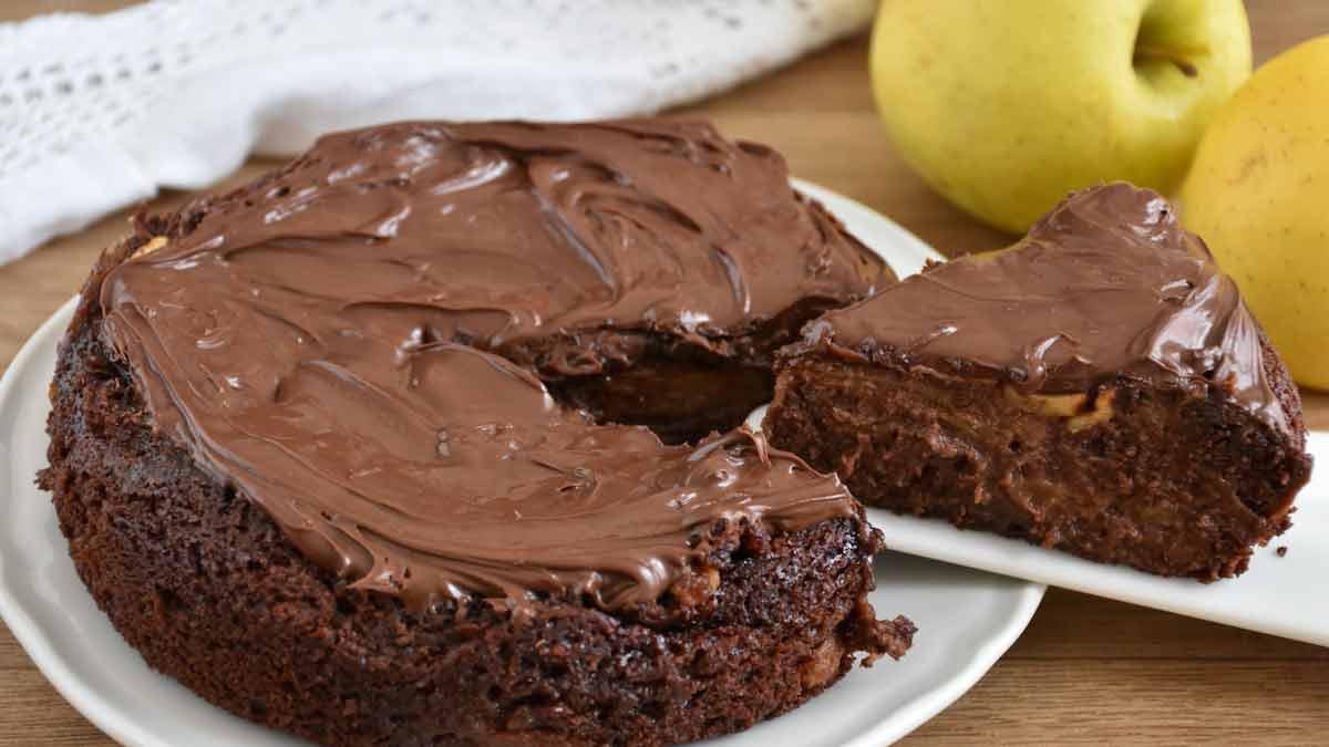 Splendide tarte aux pommes et au chocolat