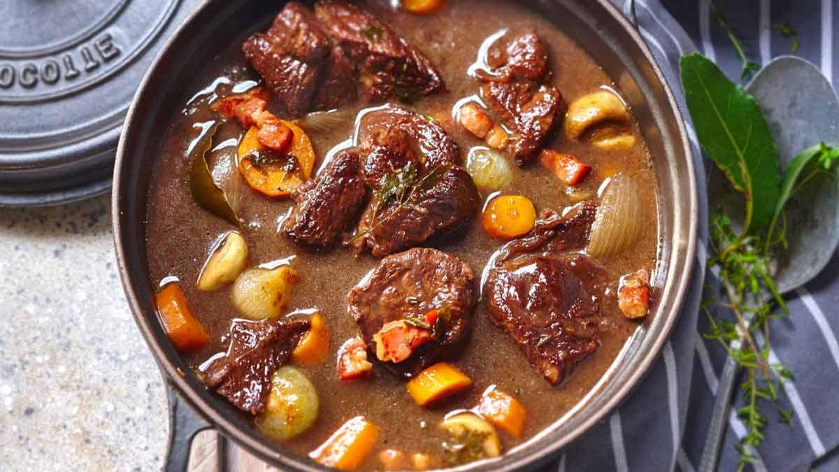 Succulent bœuf bourguignon facile
