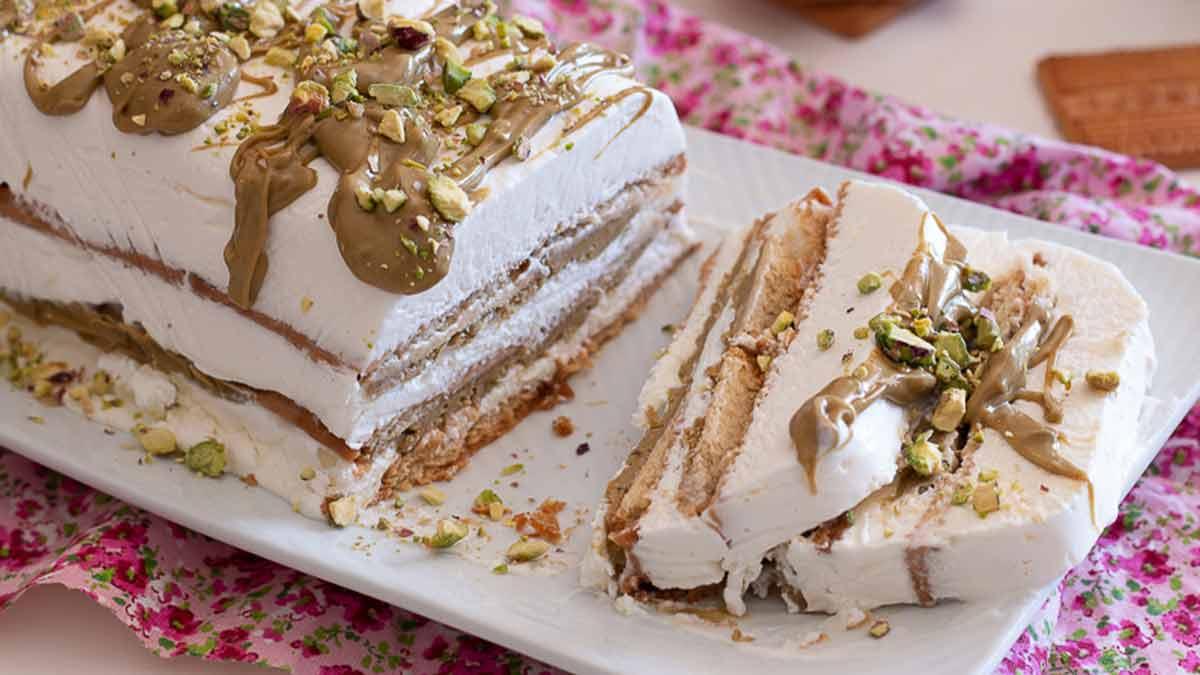 Succulent gâteau à la pistache