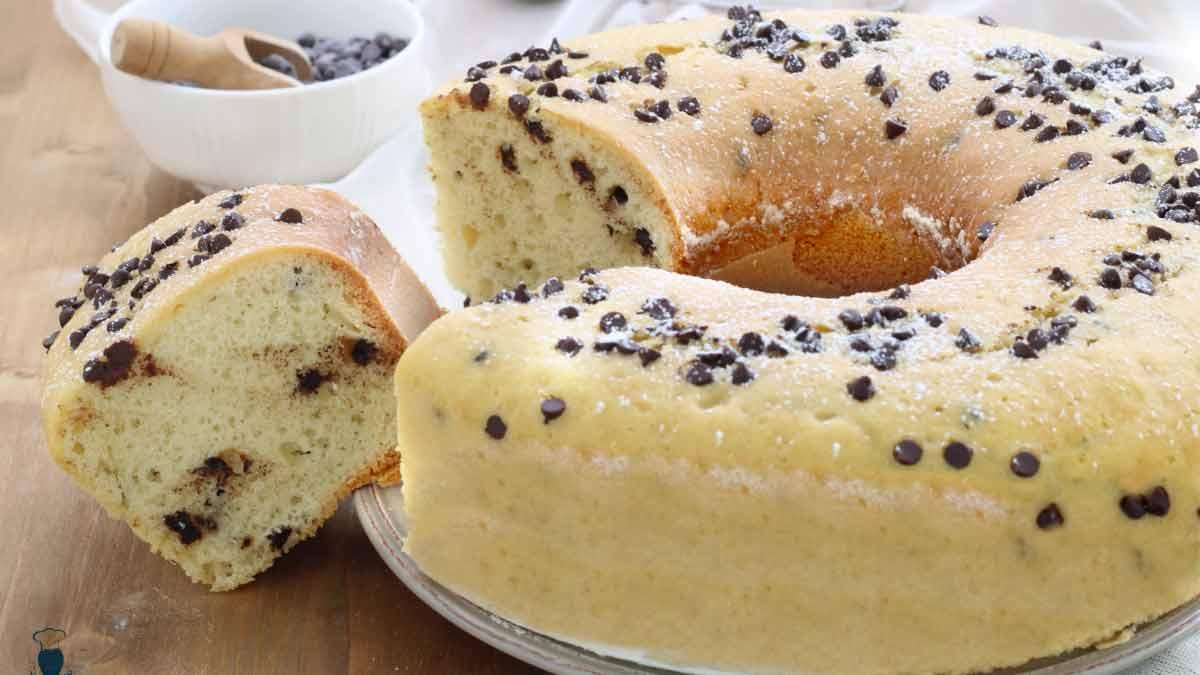 Succulent gâteau aux pépites de chocolat