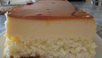 Succulent gâteau flan à la noix de coco