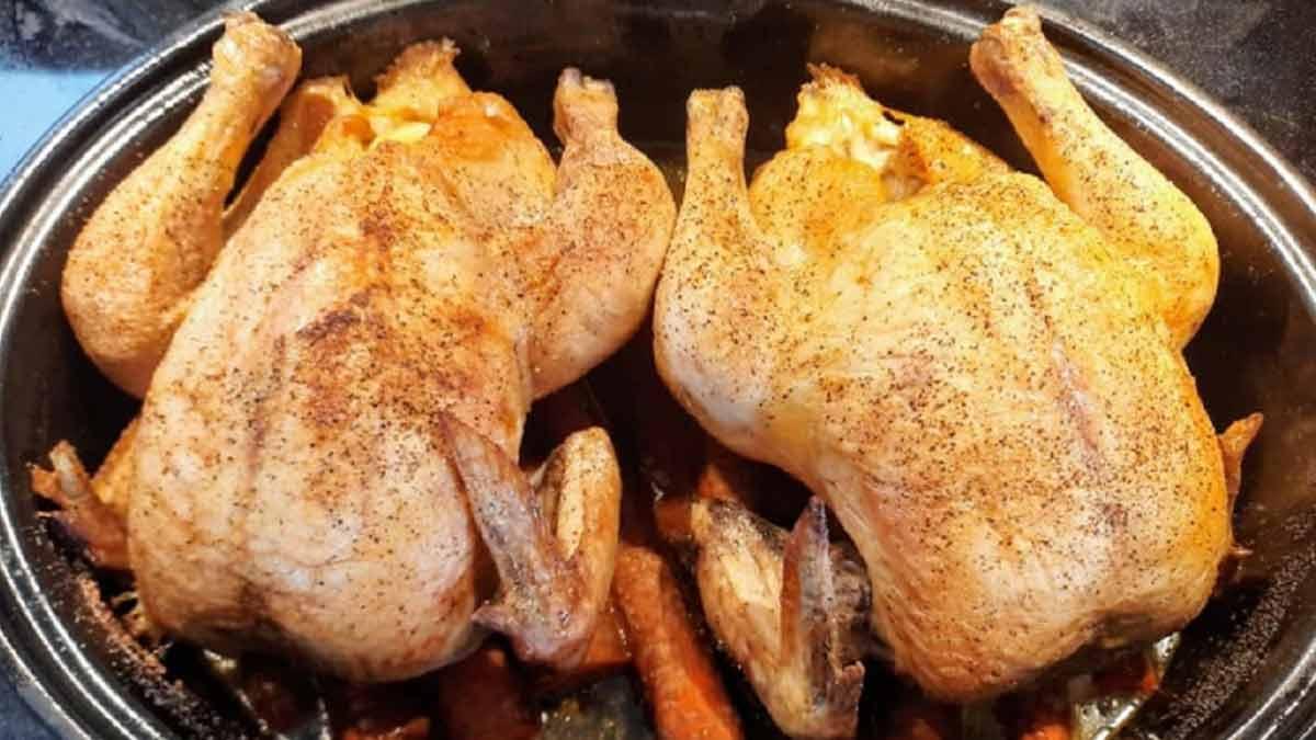 Succulent poulet au four très juteux