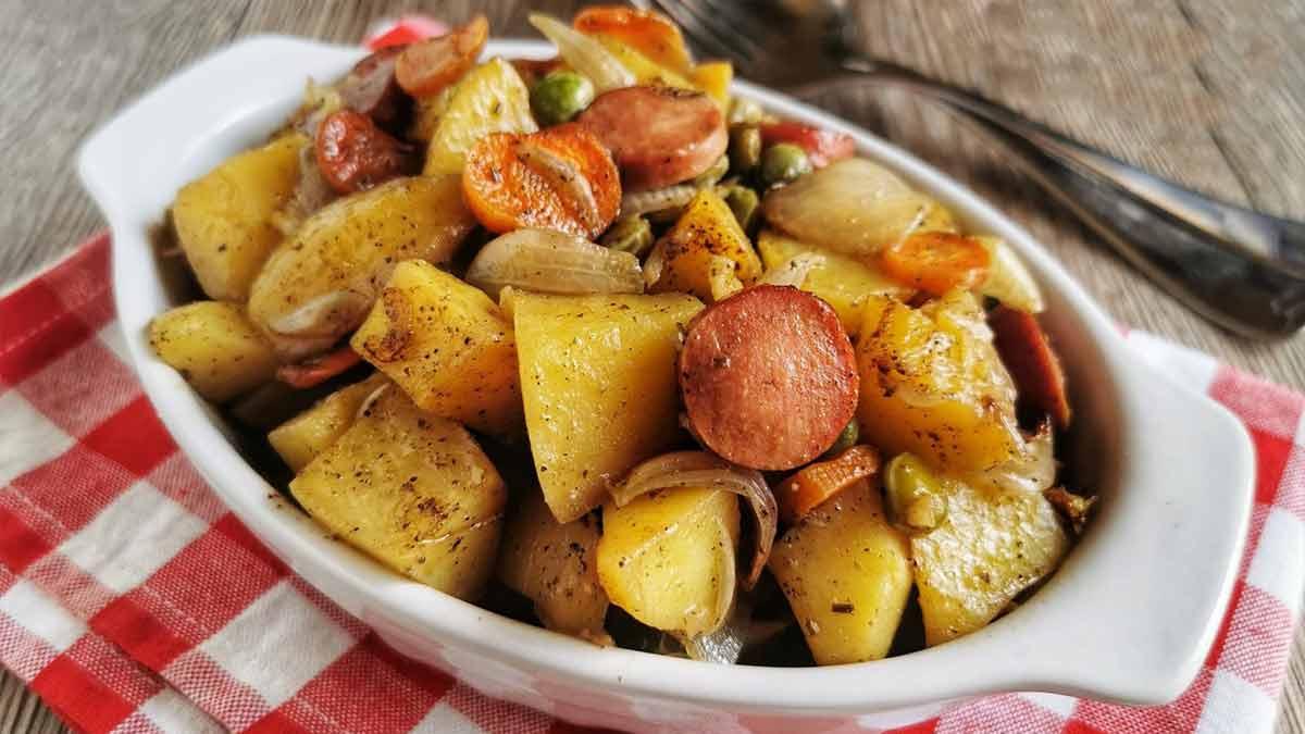 Succulents légumes aux saucisses