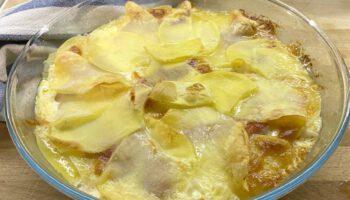 Tarte aux pommes de terre filandreuse