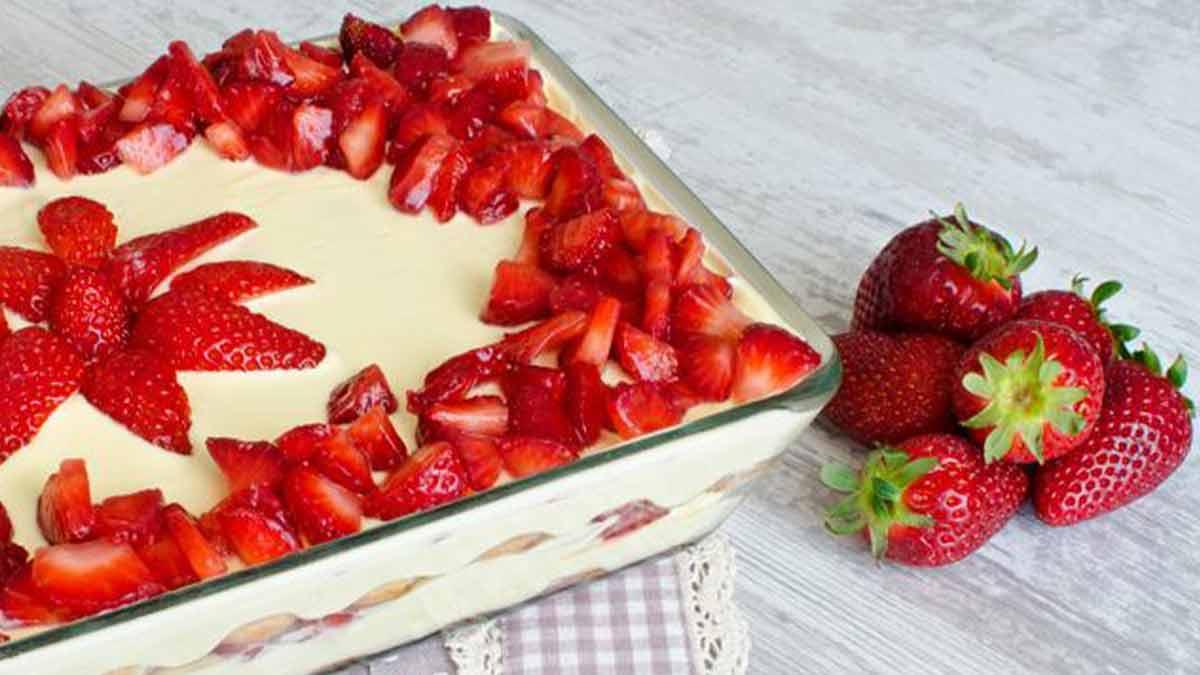 Tiramisu aux fraises envoûtantes