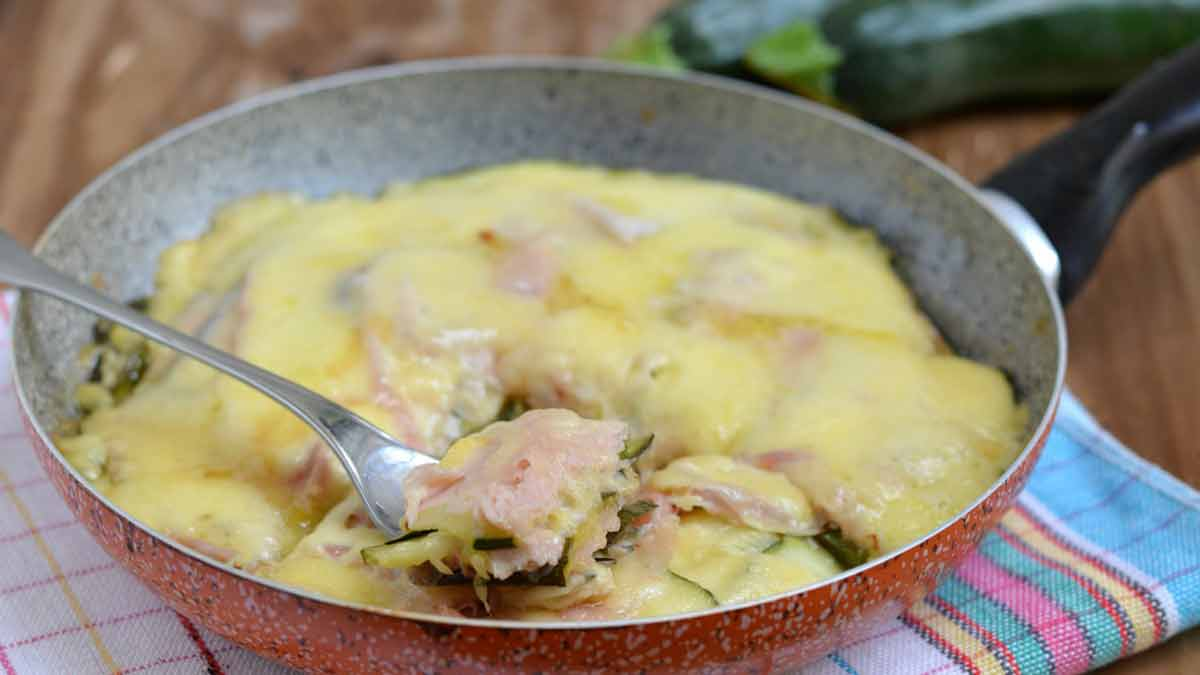 courgettes au jambon et fromage raclette