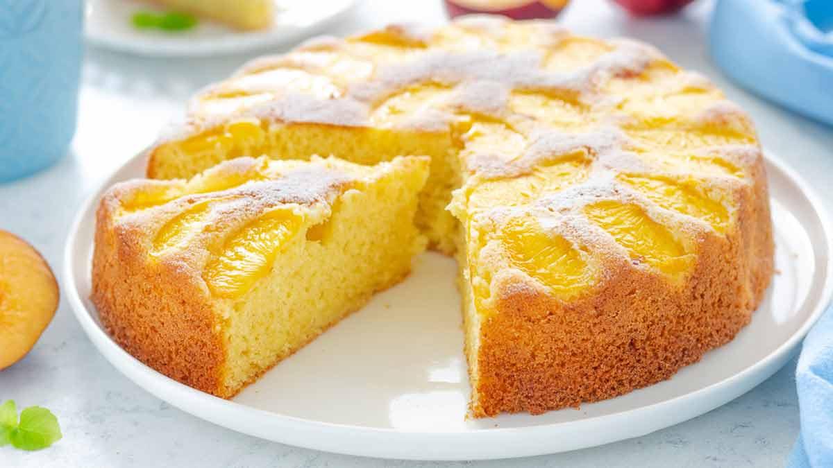 gâteau aux pêches et au yaourt