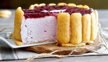 gâteau froid aux biscuits à cuillères et au yaourt