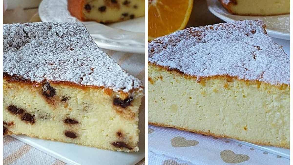 gâteau sucré à la ricotta sans farine