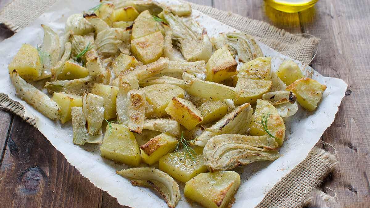 pommes de terre au four et fenouil gratinés