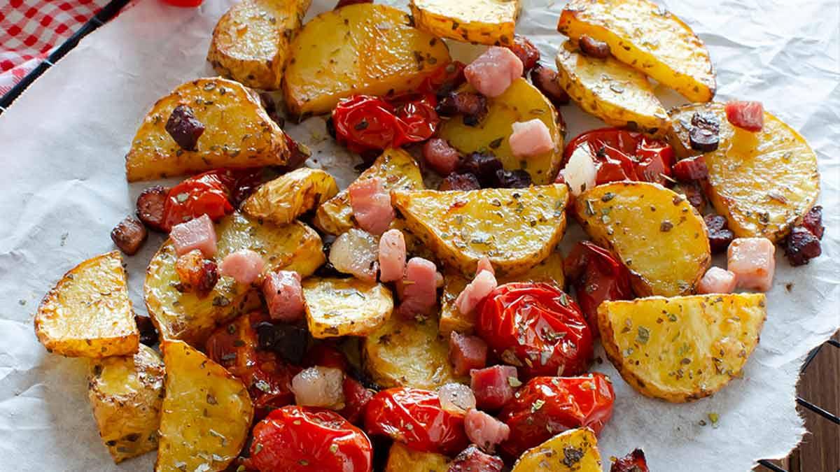 pommes de terre au jambon