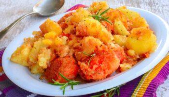 pommes de terre sautées et potiron