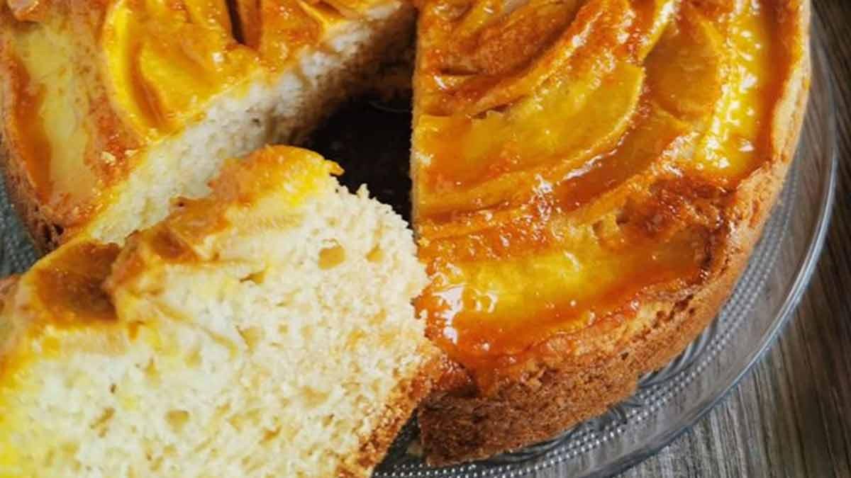 tarte aux pommes et confiture