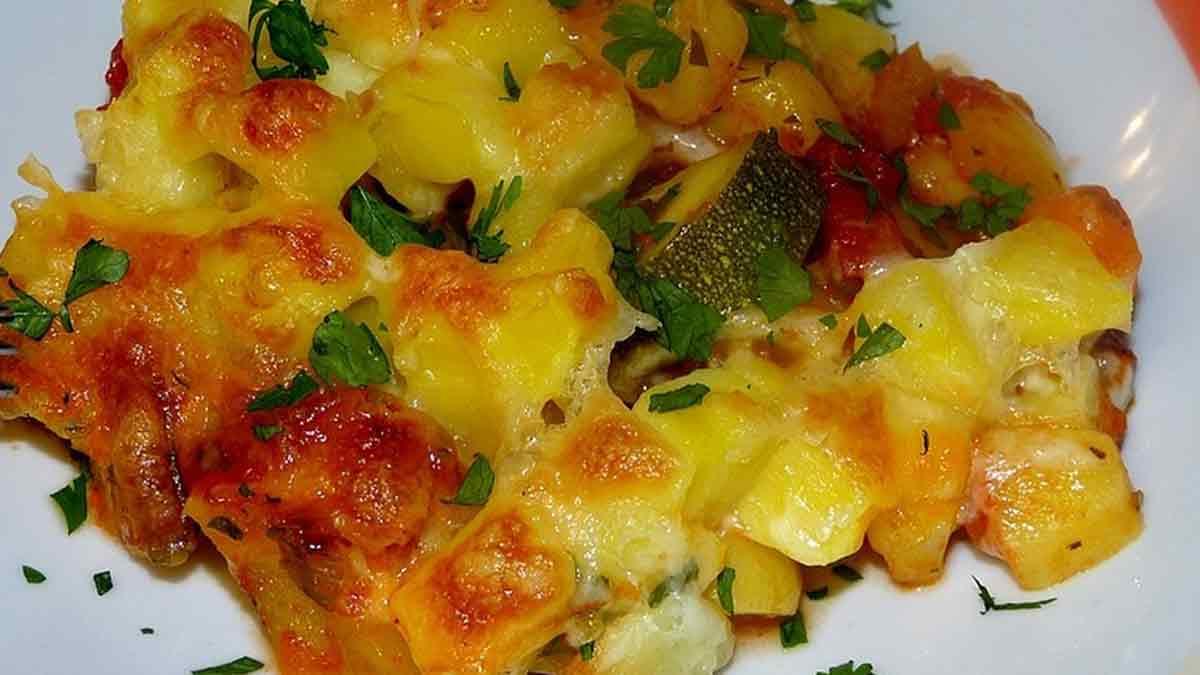 Délicieuse ratatouille fromage au four