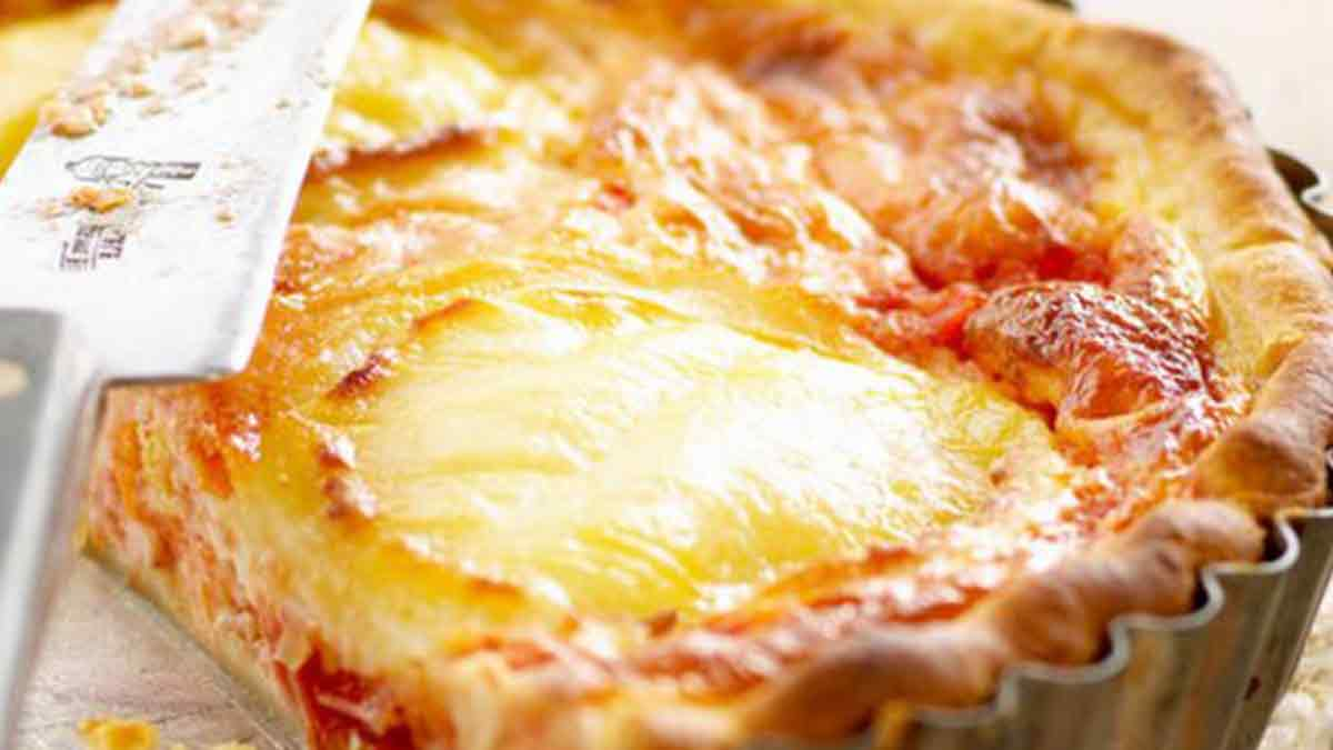 Délicieuse tarte à la tomate et au chèvre