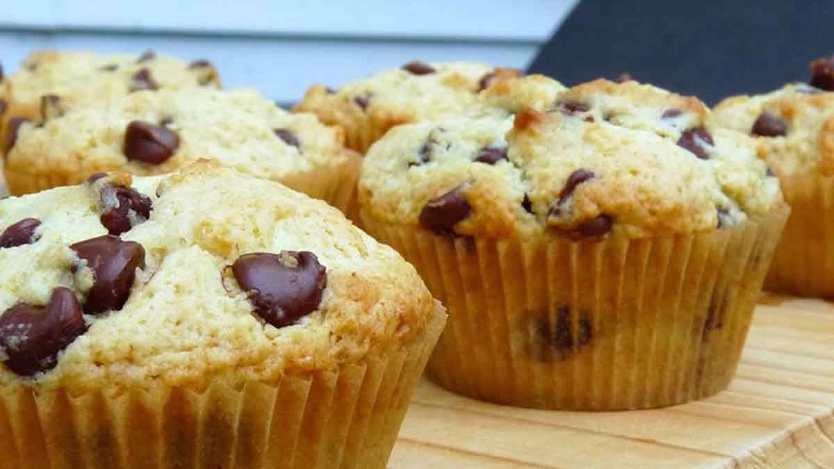 Délicieux muffins aux pépites de chocolat