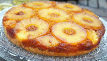 Gâteau renversé aux ananas caramélisés
